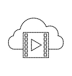 cloud computing film movie video internet vector image