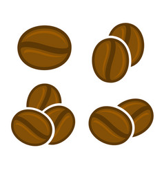 Coffee beans icon set vector