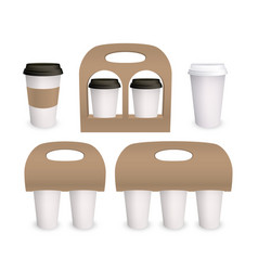 Coffee cup paper mockup pack 3d models vector