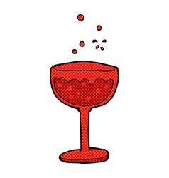 Comic cartoon sparkling cocktail vector