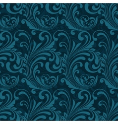 Dark blue ornamental seamless vector