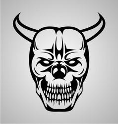 Devil skull tattoo vector