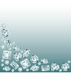 Diamonds background vector