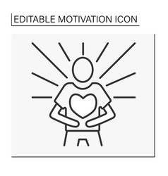 Emotional state line icon vector