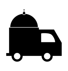 Fast food delivery icon vector