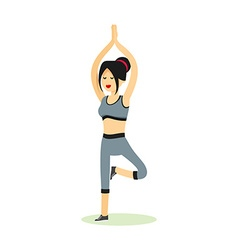Girl posing pose yoga vector image