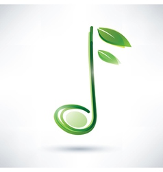 green musical note abstract background vector image