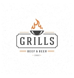 Grill Design Element in Vintage Style vector image