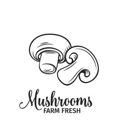 hand drawn mushrooms icon vector image