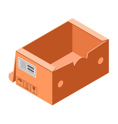 handly carton box icon isometric style vector image