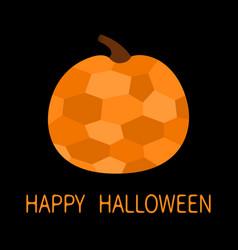 happy halloween pumpkin crystal in geometric vector image