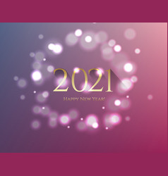 happy new year postcard with text vector image