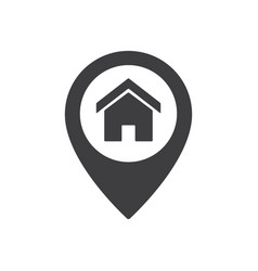 home point location sign house map pointer icon vector image