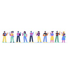 horizontal banner with confident business people vector image