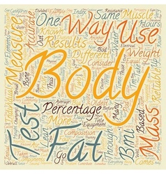 How To Test Body Fat text background wordcloud vector