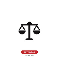 law scale icon justice symbol vector image