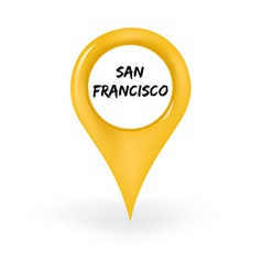 Location San Francisco vector