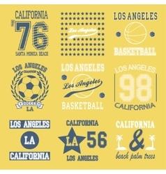 Los Angeles set vector