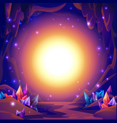 Magic cave fairy landscape of a cave with vector