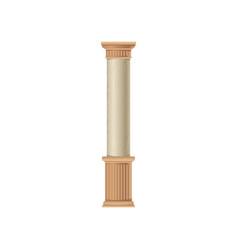 marble architecture classic stone colomn vector image