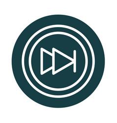 media control button sound block style icon vector image
