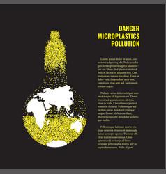 Microplastics in water banner vector