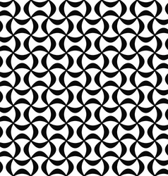 Monochrome abstract seamless curved shape pattern vector