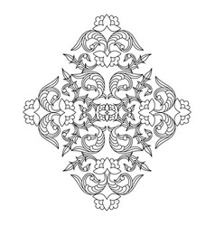 outline floral pattern in ethnic national vector image