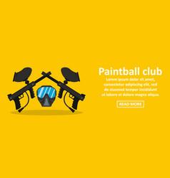 Paintball club banner horizontal concept vector