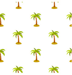 Palm pattern flat vector