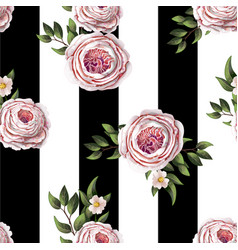 pink english roses seamless pattern vector image