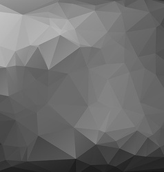 Polygonal black mosaic background vector