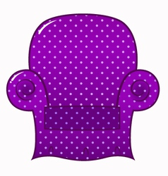 Purple dotted chair clipart isolated on white vector image