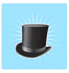 S top hat - poster with vintage capitalist hat vector