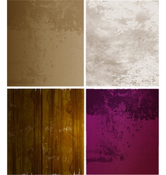 Scrapbooking set old paper textures vector image
