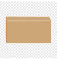 sealed cardboard box mockup realistic style vector image