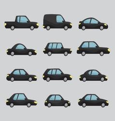 set cartoon cars design vector image