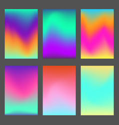 set of bright wavy dynamic ui backgrounds vector image