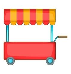Shop trailer icon cartoon style vector image