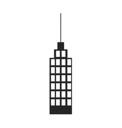 silhouette monochrome of building skyscraper with vector image