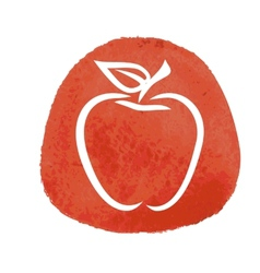 sketch of red apple vector image
