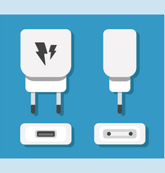 Smartphone usb charger adapter with usb micro vector