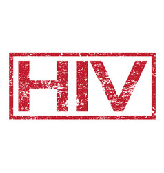 Stamp text hiv vector