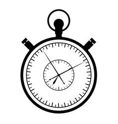 stopwatch on a white background vector image