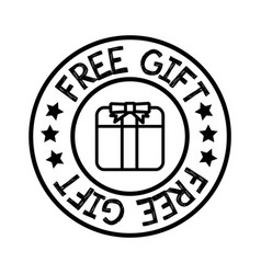 thin line free gift icon vector image