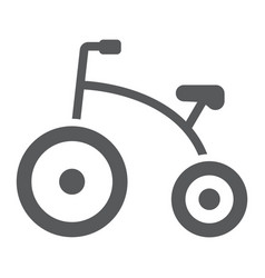 Tricycle glyph icon bicycle and child vector