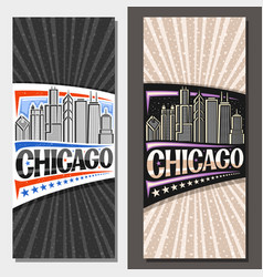 vertical layouts for chicago vector image