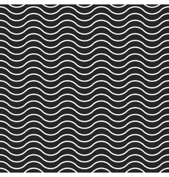 Wave background seamless pattern black vector image