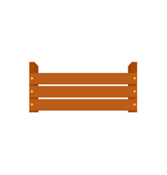 wood garden box icon flat style vector image