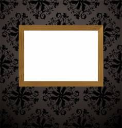 wood picture frame black vector image